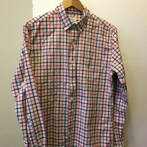 Bonobos red white and blue 100% cotton shirt